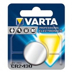 PILE BOUTON LITHIUM VARTA 3V-280MAH CR2430